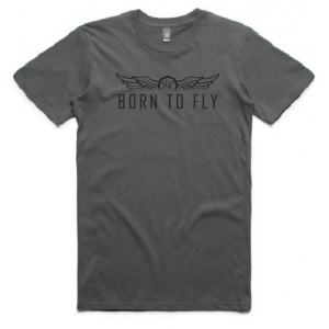 Men's Born to Fly Tee - Black Print