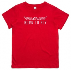Youth Born to Fly Tee - White Print
