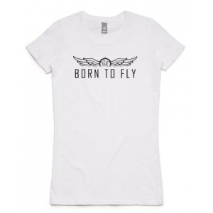 Women's Born to Fly Tee - Black Print