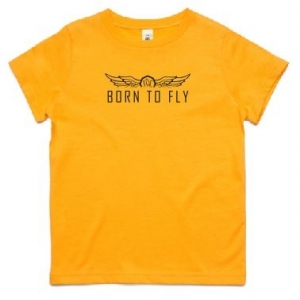 Youth Born to Fly Tee - Black Print
